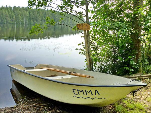 """das hauseigene Ruderboot """"Emma"""""""