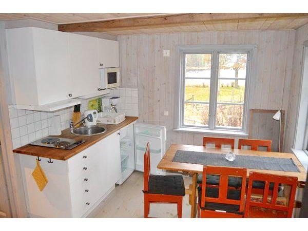 Küche und Essplatz mit schönem Seeblick
