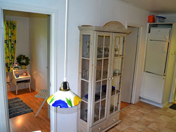Blick von der Küche zu den 2 kleineren Schlafzimmern
