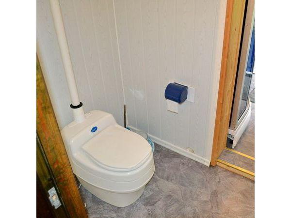 Biotoilette im Badezimmer