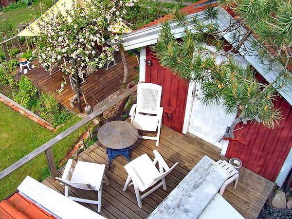 Terrasse vor der Sauna