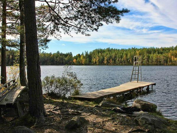 Badestelle am See (1.700m vom Haus entfernt)