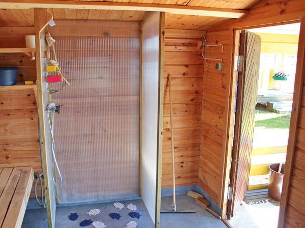 Dusche in der Sauna