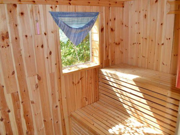 Sauna mit Blick ins Grüne