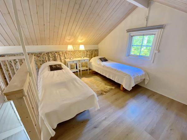 Schlafloft im Obergeschoss mit 3 Einzelbetten