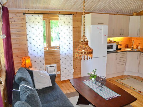 Wohnzimmer mit integrierter Küche