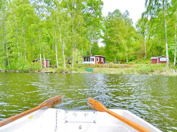 """Blick vom Boot aus auf """"Solnebo"""""""