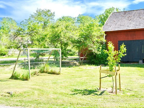 Fußballtor auf dem Hof