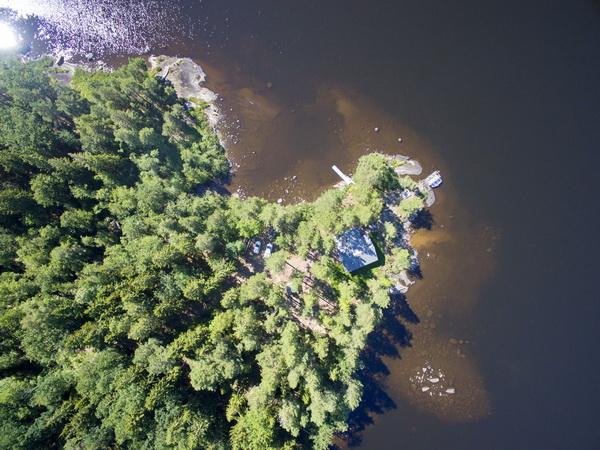 Blick auf das Haus aus der Vogelperspektive