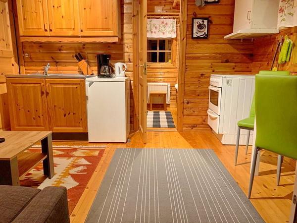Wohnraum mit integrierter Küche, kleines Haus