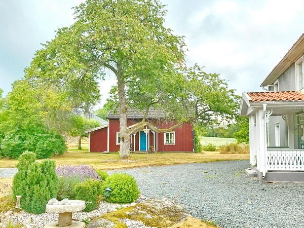 Blick auf das Haus (auf einem Bauernhof gelegen)