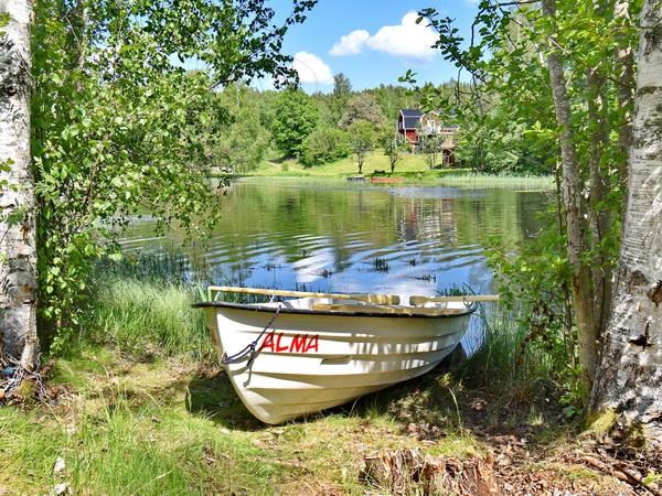 """das hauseigene Ruderboot """"Alma"""""""