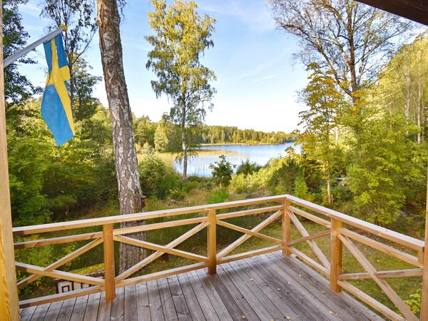 Blick von der Veranda zum See