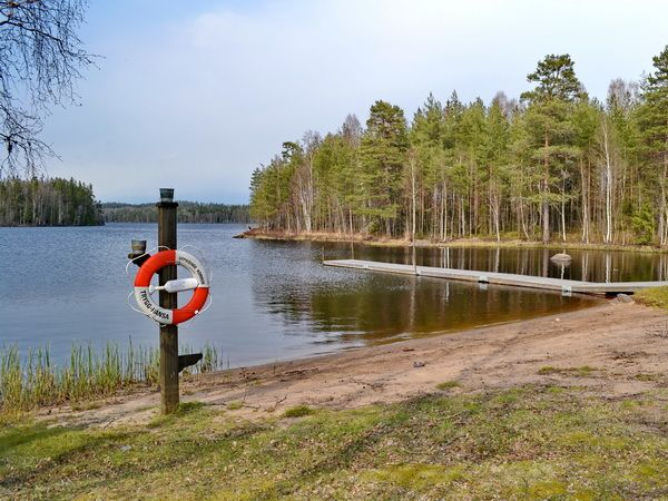 schöne Badestelle am See (8 km vom Haus entfernt)