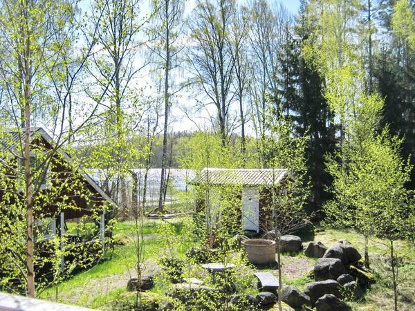 Blick von der Veranda des kleinen Hauses