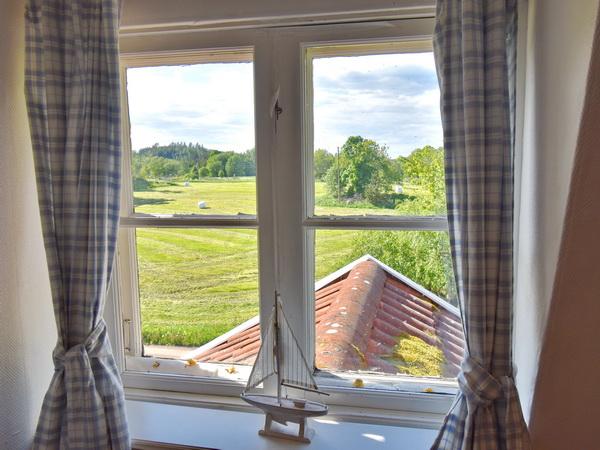 Blick aus dem Fenster im Obergeschoss